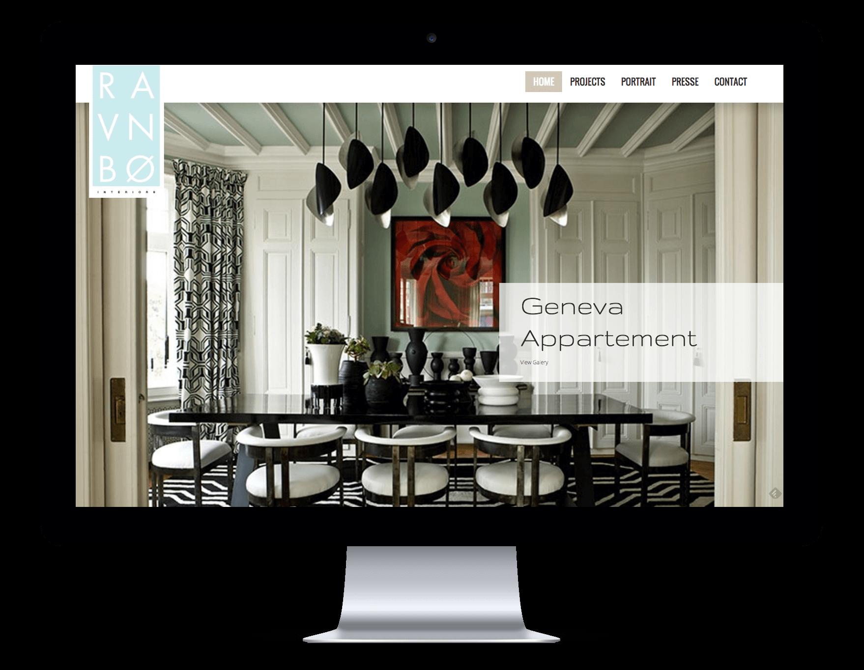 Capture du site internet Ravnbo Interiors